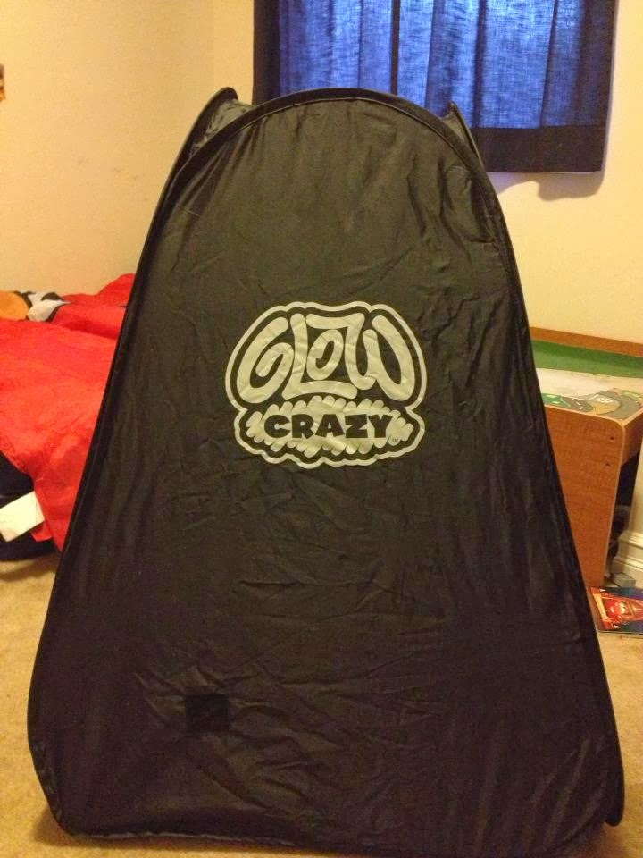 pop up tent glow in dark pen & Tales of Mommyhood: Crazy Fun with the Glow Crazy Doodle Dome
