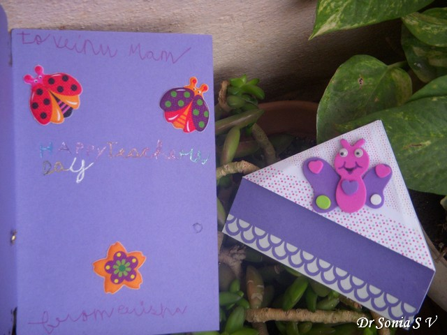 Cards crafts kids projects teachers day card and bookmark teachers day card m4hsunfo Image collections
