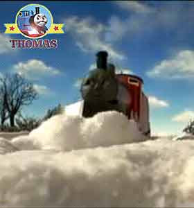 Thomas and friends James and Edward the train engine first job clear the main railroad line of snow
