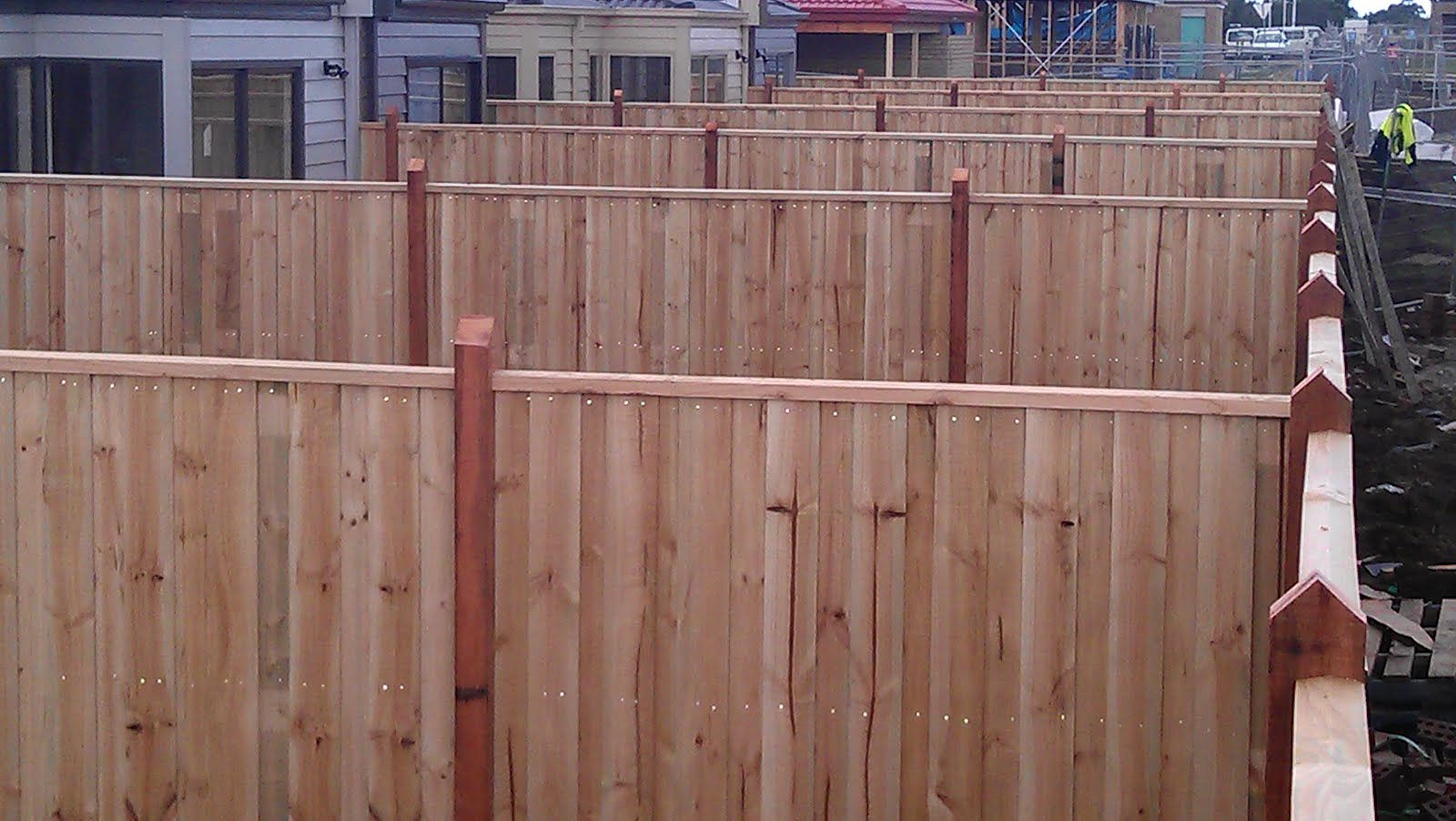 Ironman Fencing Timber Fence With Exposed Posts