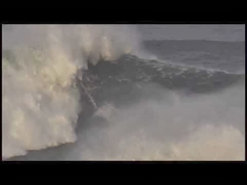 Maya Gabeira Wipeout at Nazaré - Billabong XXL Big Wave Awards 2014