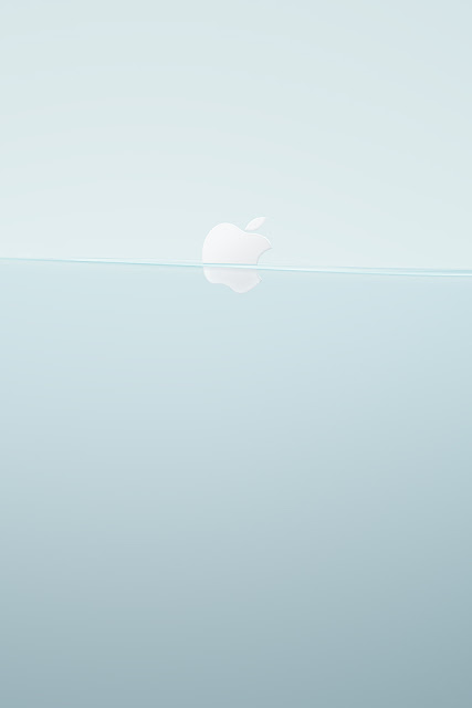 Floating Apple Logo iPhone Wallpaper By TipTechNews.com
