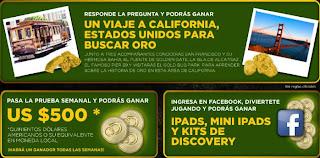 concurso discovery channel oro salvaje mexico 2013, gana ipads viaje san francisco, quinientos dolares
