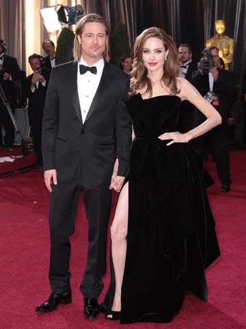 Look Brad Pitt Oscar 2012