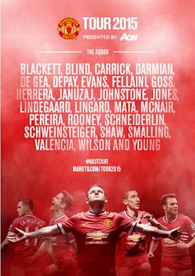 Skuad Manchester United di Tur Pramusim 2015 Amerika Serikat