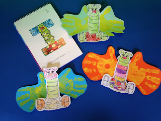 preschool letter I craft with insects
