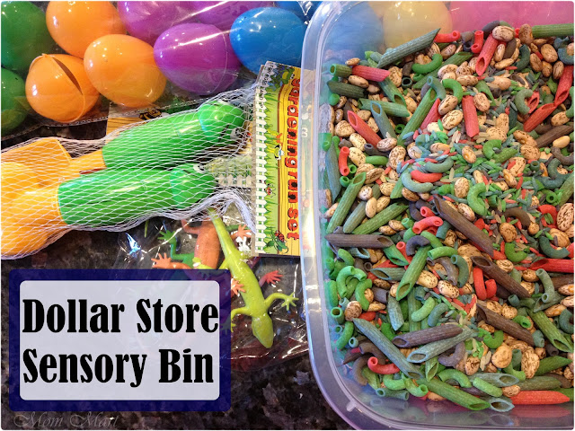 Dollar Store Sensory Bin for Boys