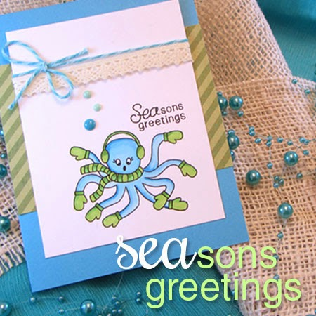 SEAson's Greetings Stamp set from Newton's Nook Designs