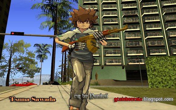 Tsunayoshi Sawada GTA SA ModdingGTA V GTA IV GTA Vice CityGTA III - Skin para minecraft pe hitman