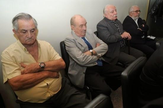 Vera Candioti, Perizotti, Morales y Pavón, cuatro de los cinco imputados en la megacausa. (Foto: Carolina Niklison, Infojus Noticias).