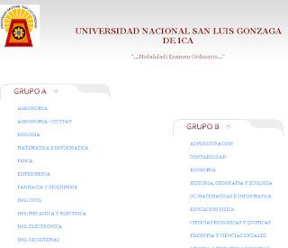 UNICA 2013 1 Resultados del Examen Admisión Universidad San Luis Gonzaga de Ica UNICA 2013 1