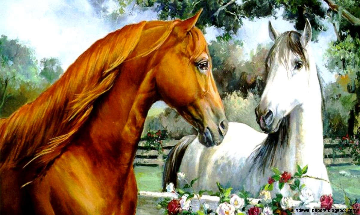 Popular   Wallpaper Horse Silver - horse-painting-wallpapers  Picture_619510.jpg