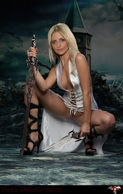 Sarah Michelle Gellar Slayer Edit 1  Original  Sarah Michelle Gellar Nude Possing her Boobs & Ass Fake