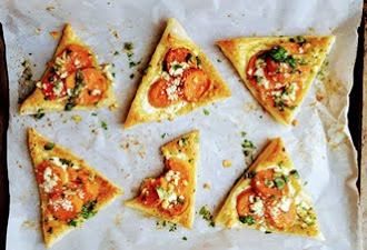 Sweet Potato Galette Triangles