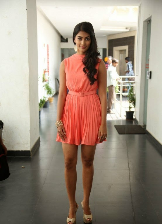 Pooja Hegde Pictures in Short Dress at Oka Laila Kosam Prerelease Press Meet ~ Celebs Next