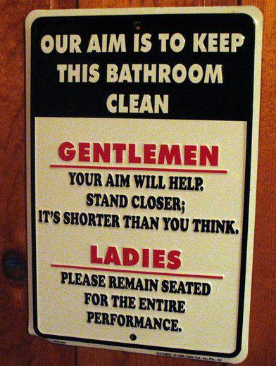 Life in the backwoods bathroom rules for Bathroom signs for cleanliness