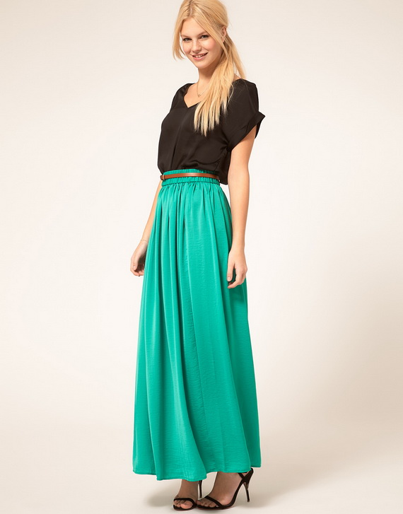 Latest Maxi Skirt Trends for Spring 2013