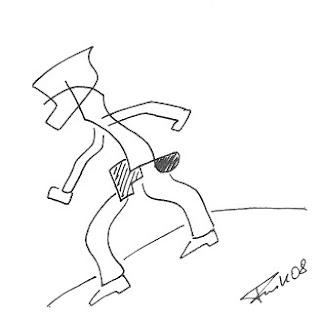 Zeichnung Bild / painting picture : cowboy