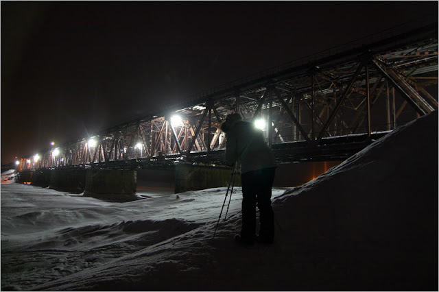 Таймыр, Норильск, фото, река Норилка, Норильская, мост, зима.
