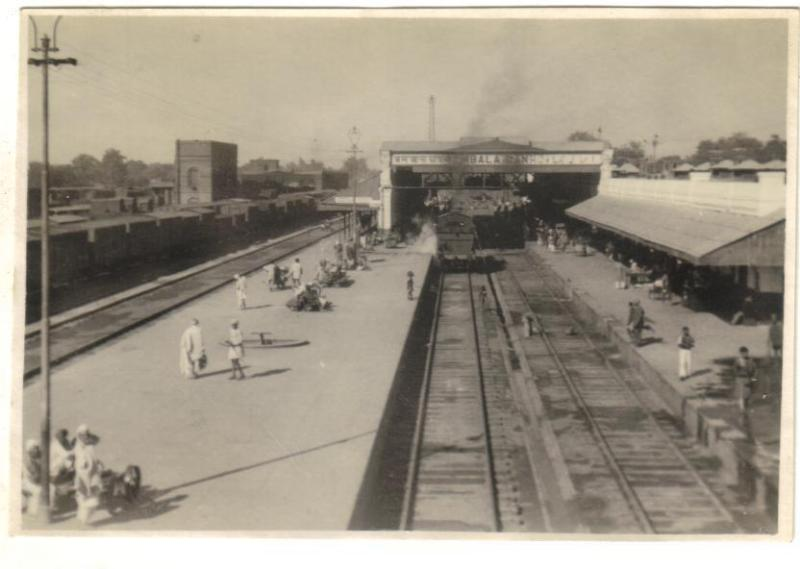 Rail Station - Ambala Haryana India 1945