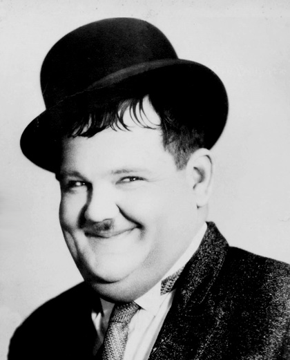 A portrait of Oliver Hardy