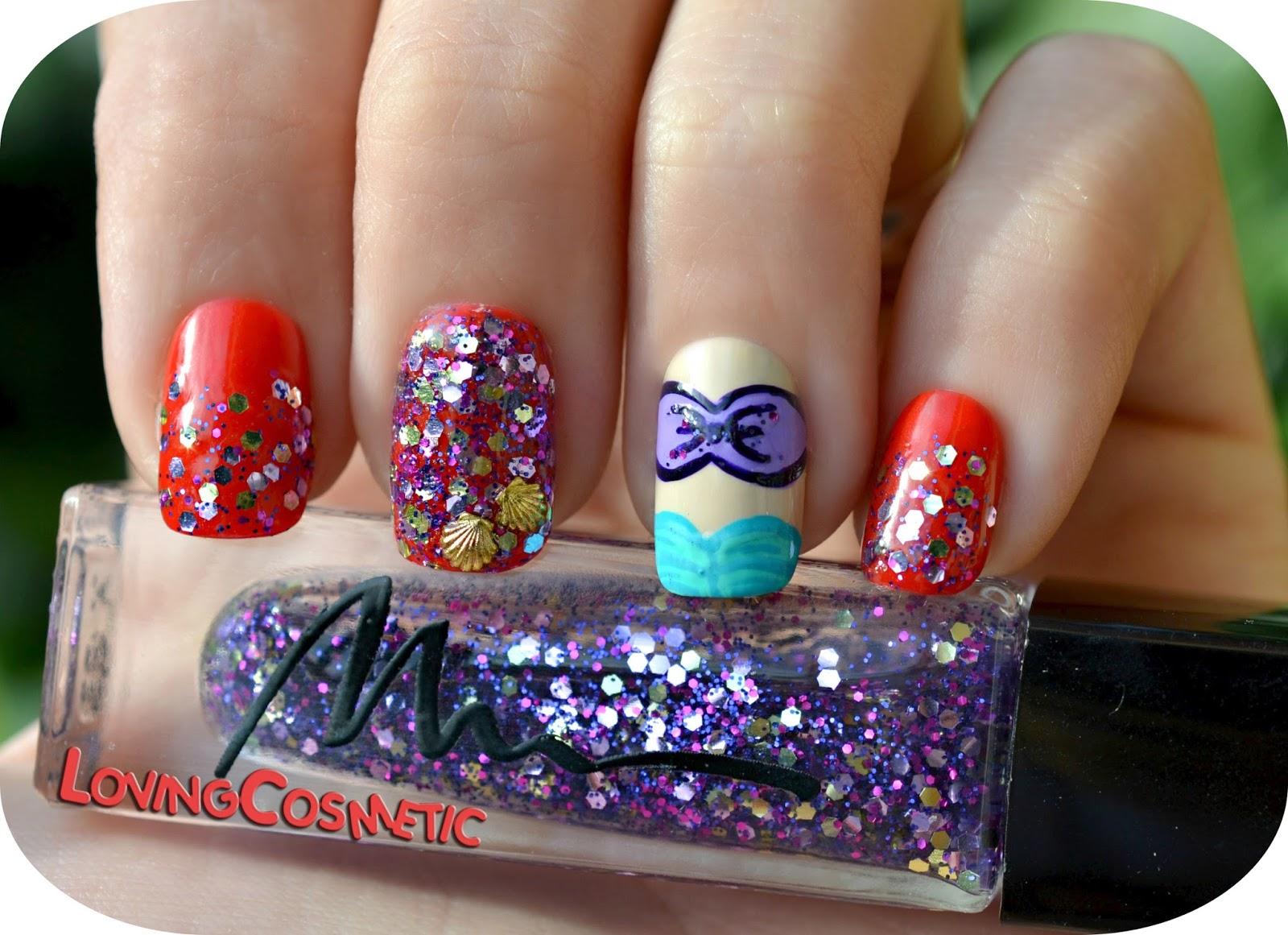 Manicura La Sirenita, Mermaid Nails, nail art uñas uña shell glitter marionnaud sirena