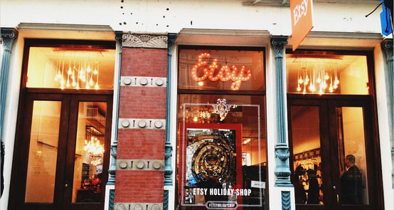 Pop up store de Etsy en el Soho