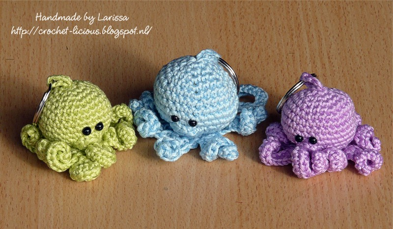 Crochet-licious: Octopus sleutelhangers