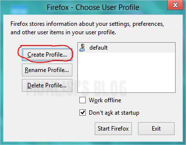 how to create user profile
