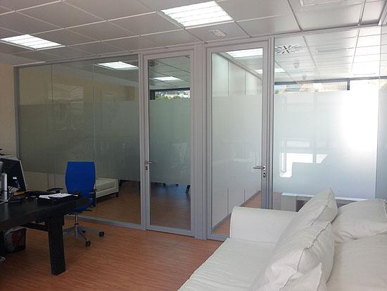 Mamparas de oficina dise o fabricaci n y montaje for Distribucion de oficinas