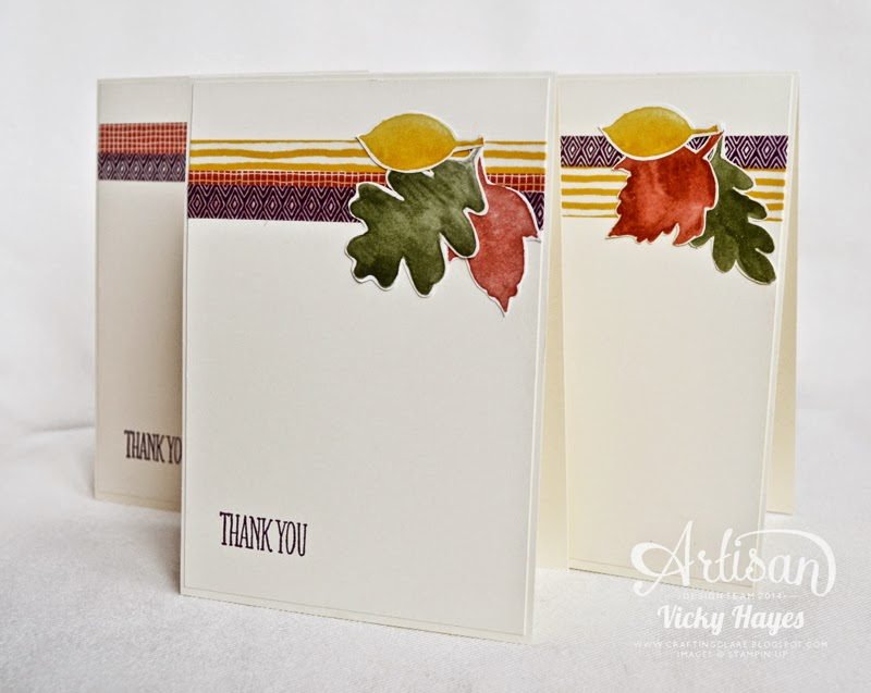 Stampin' Up blog with ideas for using designer paper