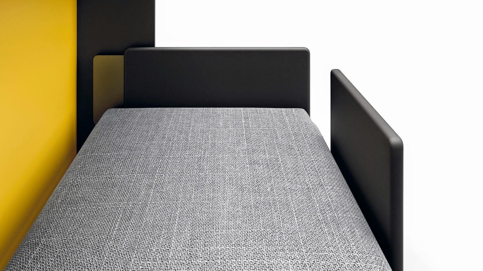 Sistema de cabecero tapizado plegable y quitamiedos - Camas plegables horizontales ...