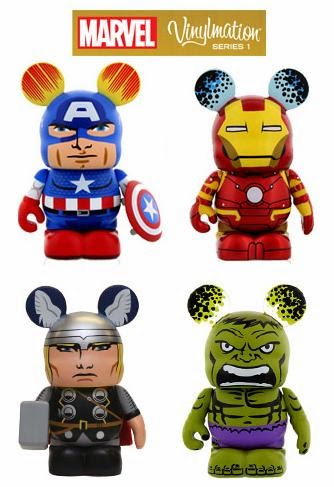 Marvel Vinylmation Series 1 by Disney - Captain America, Iron Man, Thor & The Incredible Hulk