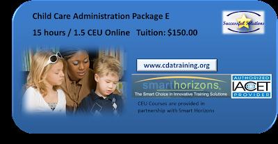 Child Care Administration Training 15 Hours 1.5 CEU