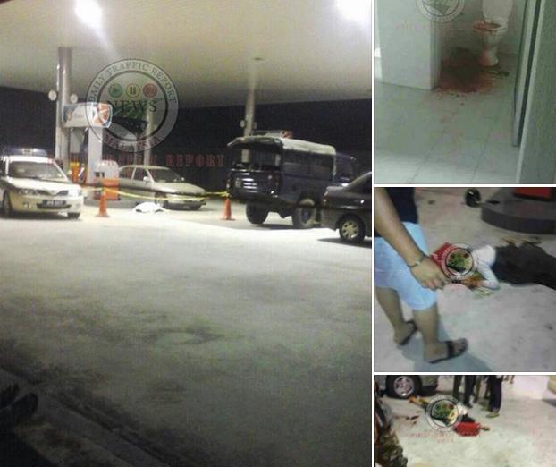TRAGIS 5 Gambar Wanita Mengandung Maut Muntah Darah Dalam Tandas Stesen Minyak