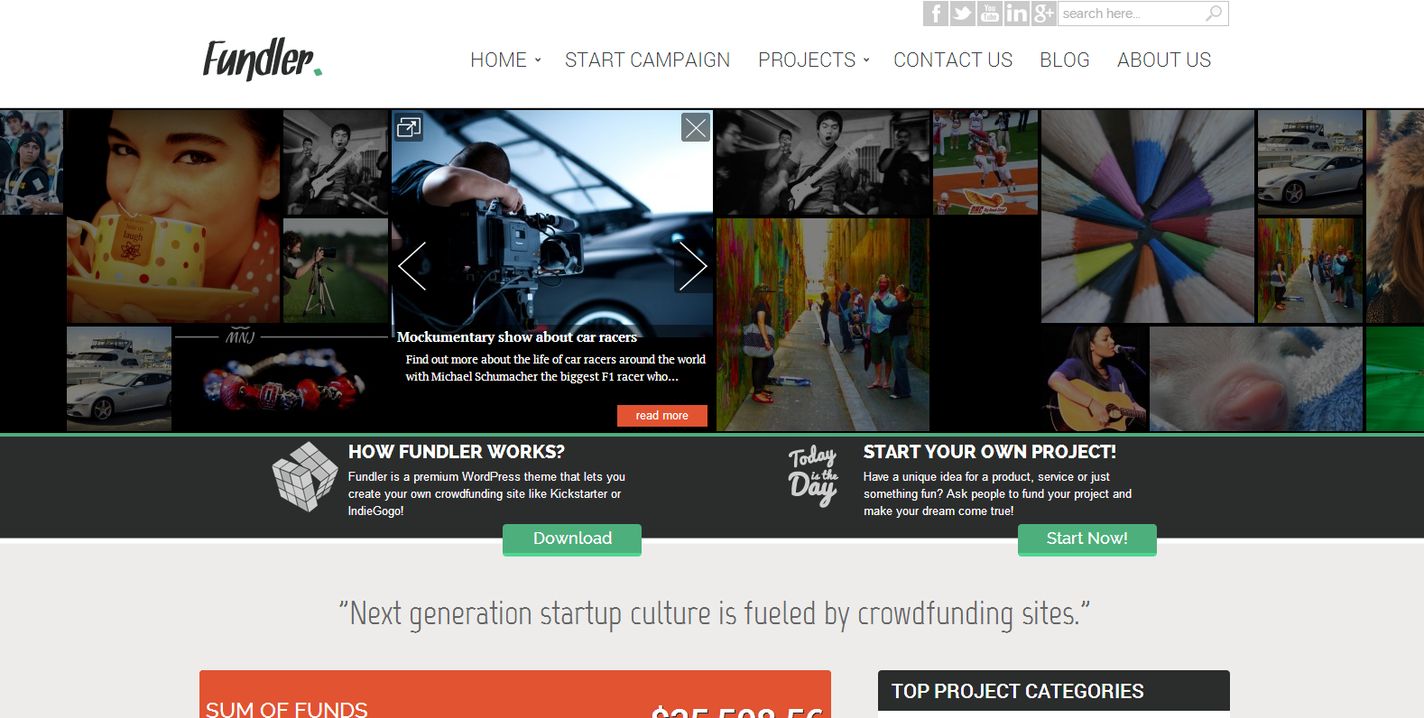 Fundler Crowdfunding WordPress Theme