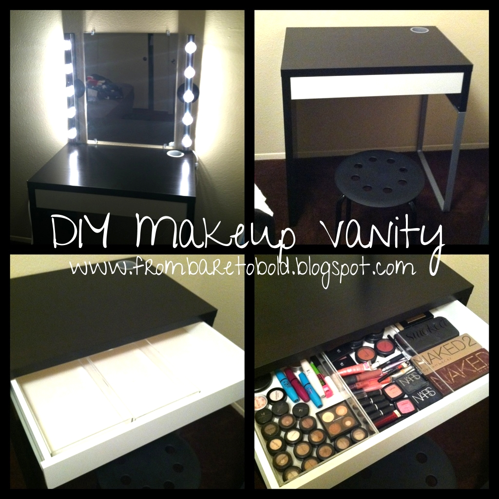 From bare to bold diy makeup vanity on a budget diy makeup vanity on a budget aloadofball Image collections