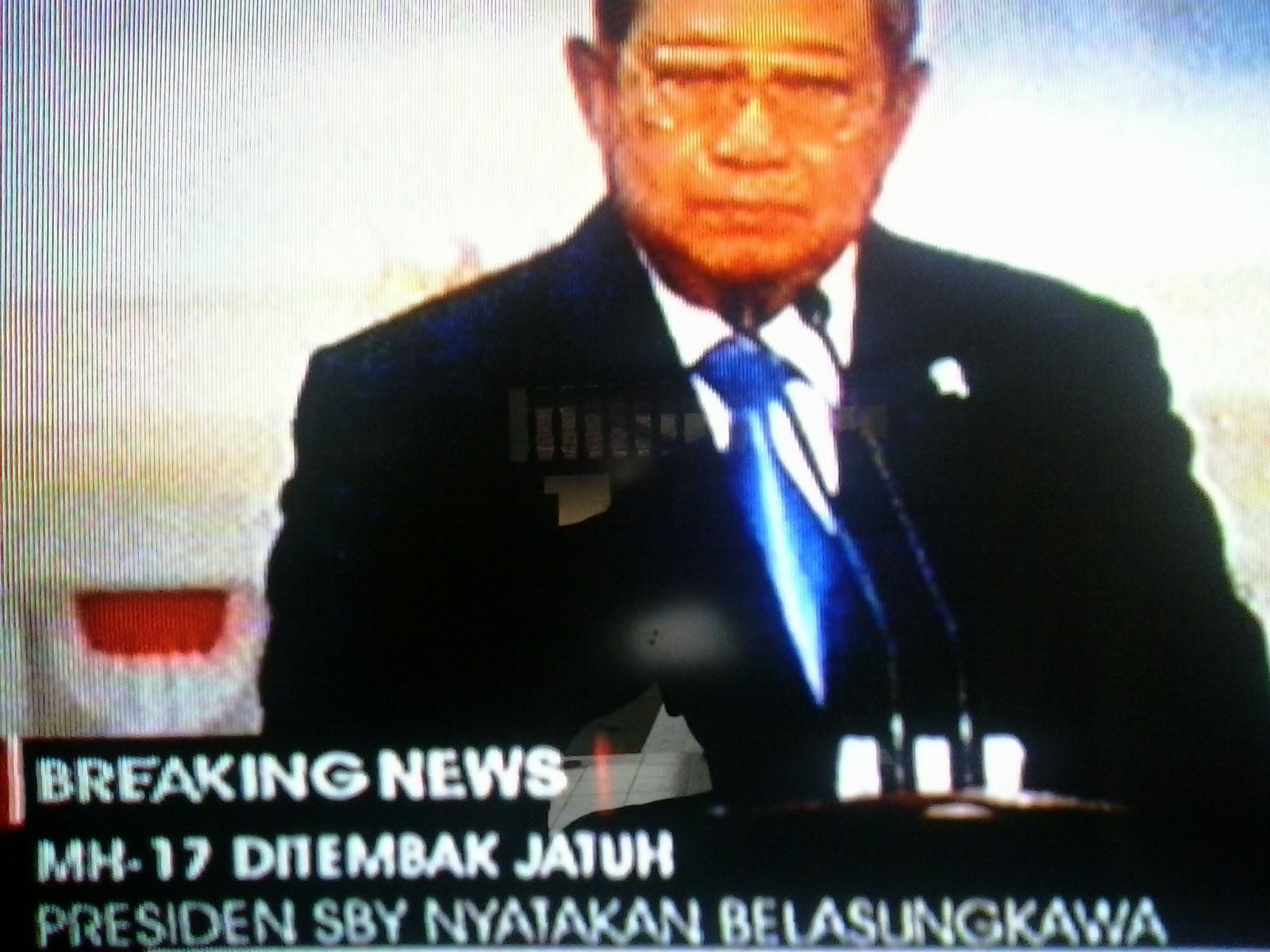 Susilo Bambang Yudhoyono, mengungkapkan rasa bela sungkawanya