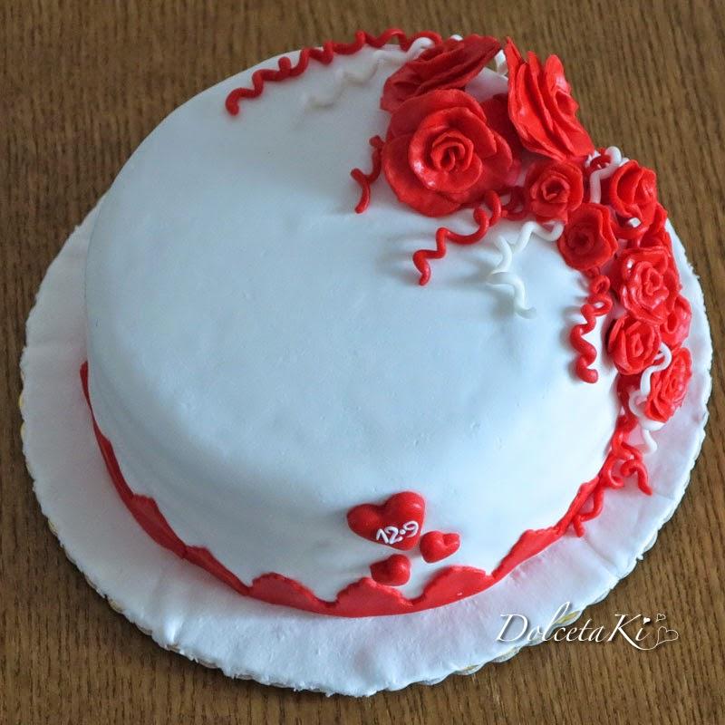 torta rose rosse e cuori