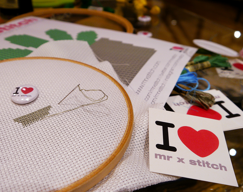 cross stitch, hipster, cool, Mr X Stitch, tutorial, Blogtacular, London, 2015, blog, sewing, embroidery, craft, workshop, #pintacular