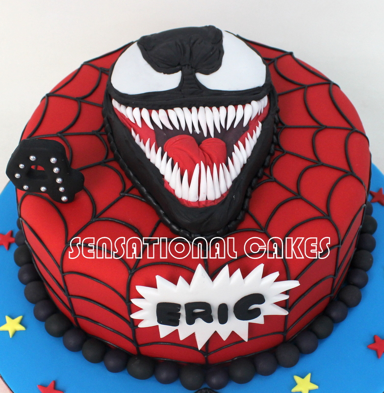 Pictures Spiderman Birthday Cakes