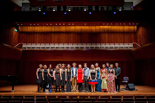 The City Music Foundation Award winners 2013 with Sir Richard Stilgoe and Director of CMF, Lizzie Allen