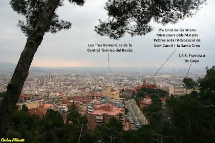 Panoràmica des del Parc del Guinardó, a l'alçada del carrer de Maurici Vilomara. Autor: Carlos Albacete