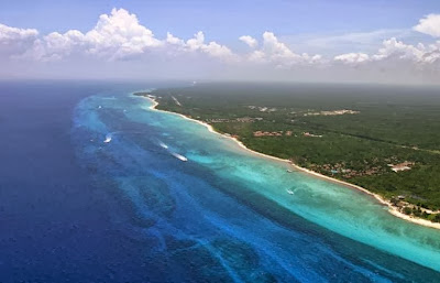 Aerial view of Cozumel Island