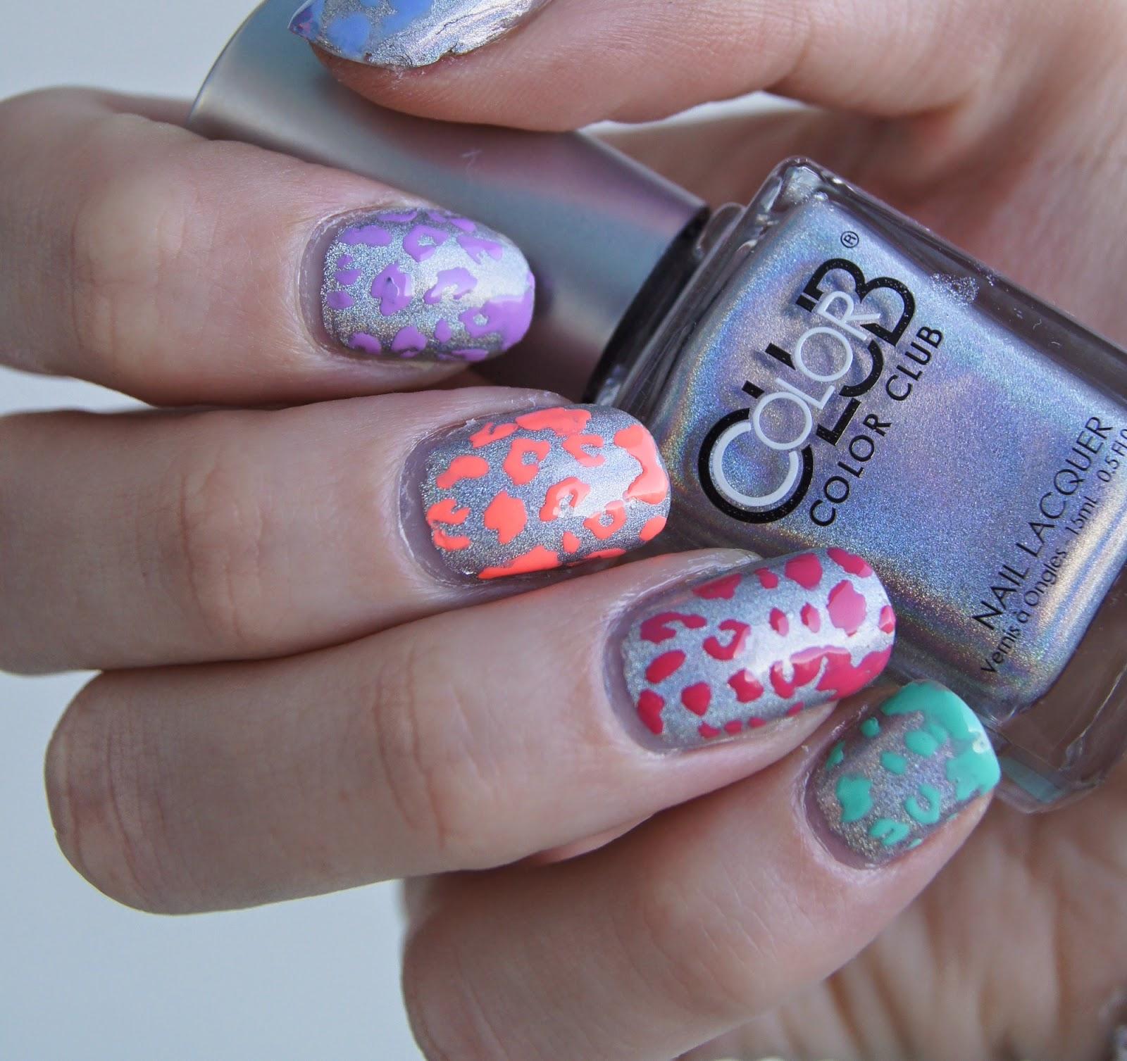nail art facile léopard