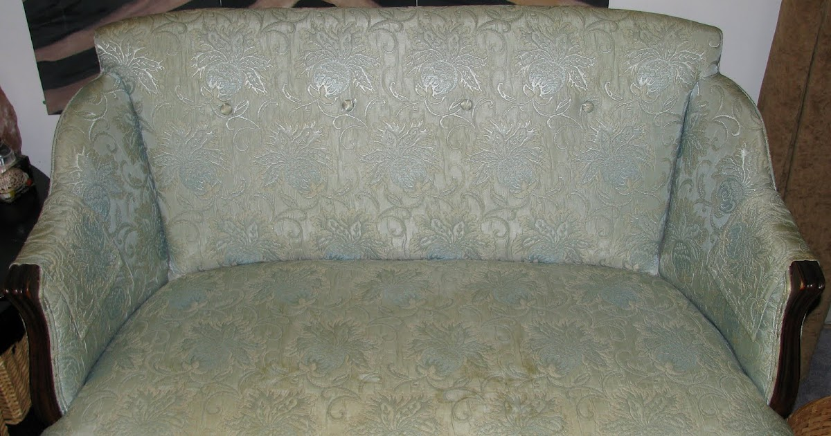 The Crafted Palette A Beautiful Slipcover For An Antique
