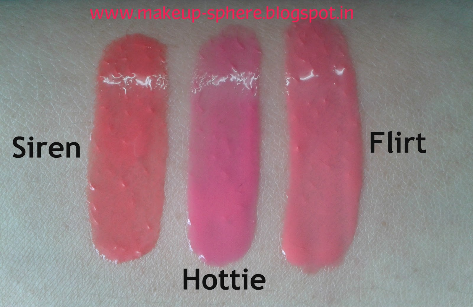 Lakme Lip Love Review and Swatches in Siren Flirt and Hottie