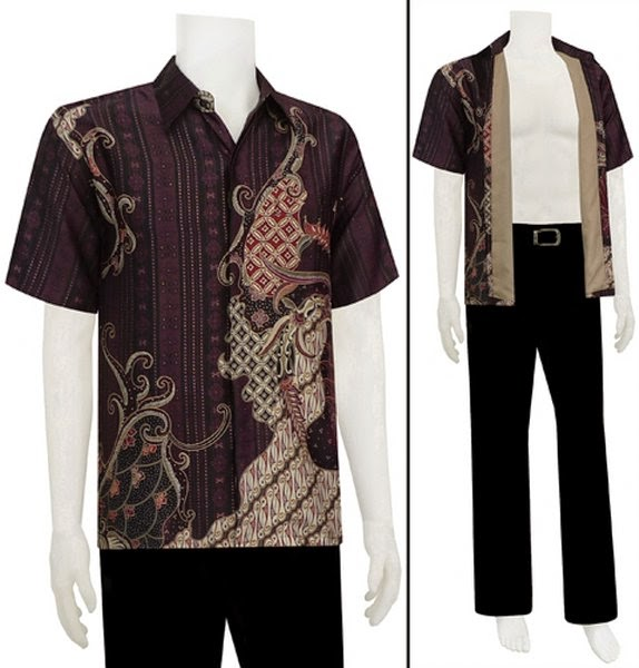 Model Baju Batik Pria Gaul Terkini Kencana Ungu
