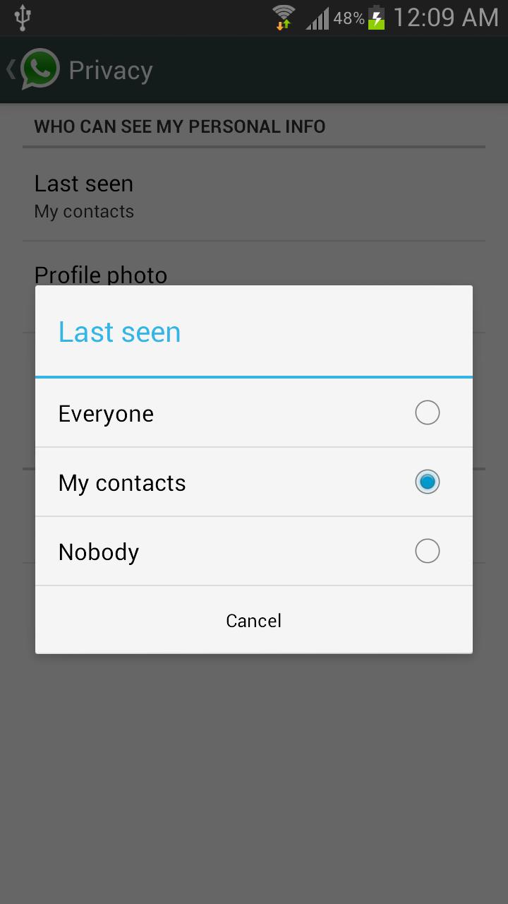 Hide Last Seen From Specific People on Whatsapp
