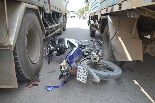 Nam thanh niên quê Gia Lai chết thảm sau cú tông đuôi xe tải